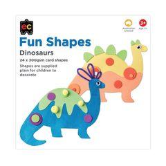 Fun Shapes Dinosaur 24pc 225 x 225mm  9314289017286
