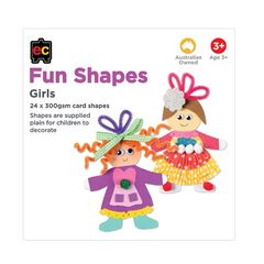 Fun Shapes Girls 24pc 150 x 150mm  9314289017361