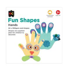 Fun Shapes Hands 24pc 150 x 150mm  9314289017347