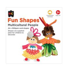 Fun Shapes Multicultural Person 24pc 150 x 150mm 9314289021887