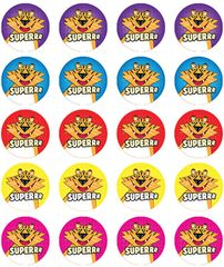 Stickers - Tiger-Superrr - Pk 100  RIC9253