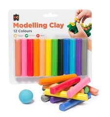 Fun Clay 12s Assorted Colours Blister Pack  9314289014292