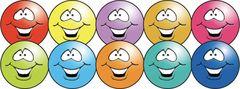 Stickers - Smile Spots - Pk 1000 SUN009