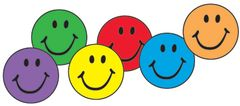 Stickers - Spot Colorful Smiles - Pk 800  T46134