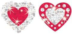Stickers - Shimmering Hearts Sparkle - Pk 72 T6306