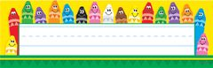 Name Plates - Colourful Crayons - Pk 36 T69013