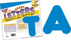 Letters - 5 Inch Uppercase Blue T79104