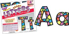 Letters - 4 Inch Uppercase And Lowercase Stained Glass  T79751