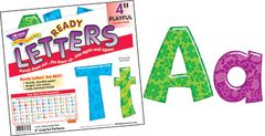 Letters - 4 Inch Uppercase And Lowercase Colourful Patterns  T79756