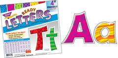 Letters - 4 Inch Uppercase And Lowercase Furry Friends Patchwork T79801