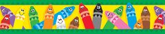 Border - Colourful Crayons  T85041