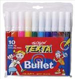 Texta Bullet Colour Markers - Pack of 10 9311960180123